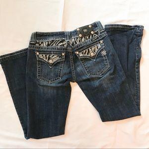 "Miss Me Boot Cut Jeans Rhinestones Size 28"" Waist"
